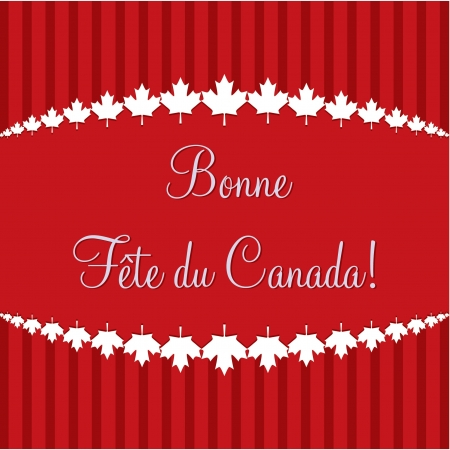 first day:  Happy Canada Day  card in vector format  Illustration