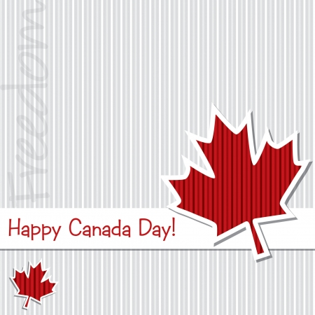 Happy Canada Day  sticker card in vector format  Vector