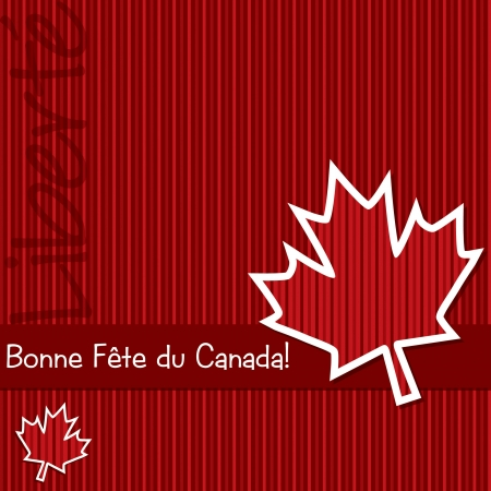 Happy Canada Day  sticker card in vector format  Vector