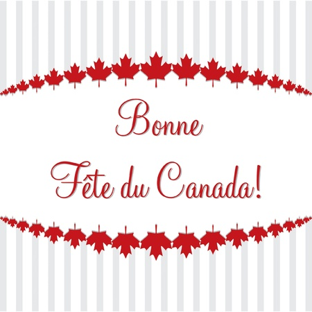 Happy Canada Day  card in vector format  Vector