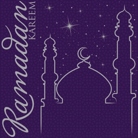 Hand drawn Ramadan Kareem  Generous Ramadan  greeting card in vector format  Vector