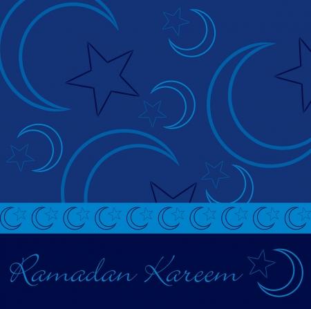 generoso: Dibujado a mano Ramad�n Generoso tarjeta de felicitaci�n del Ramad�n Kareem en formato vectorial