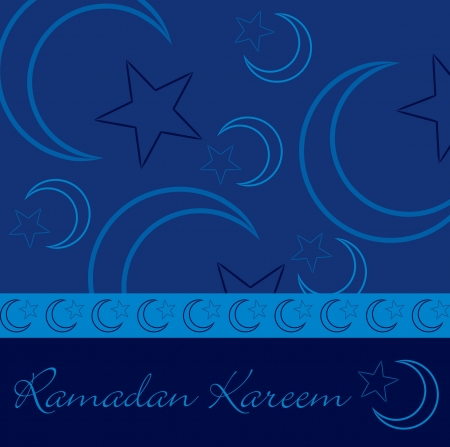 Hand drawn Ramadan Kareem  Generous Ramadan  greeting card in vector format  Vector