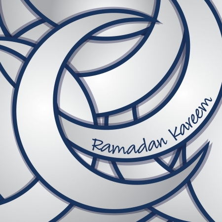 Ramadan Kareem  Generous Ramadan  sticker greeting card in vector format  Vector