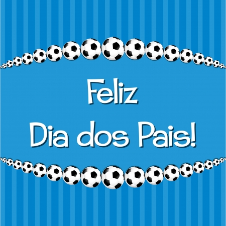 Portuguese Soccer theme Father s Day card in vector format  Ilustração