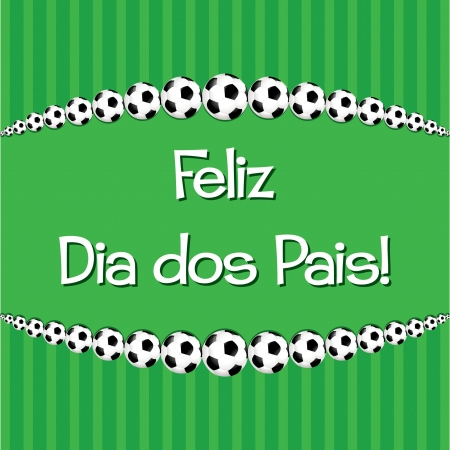 Portuguese Soccer theme Father s Day card in vector format Stock Vector - 19644508