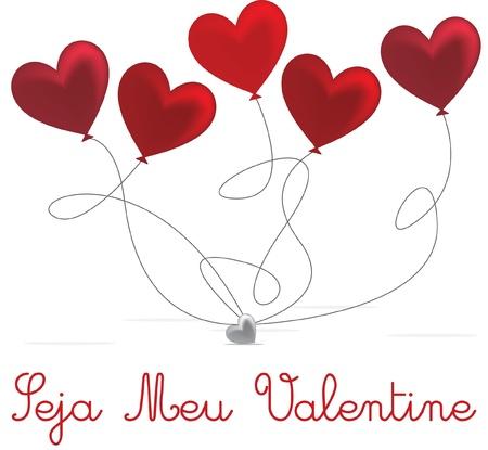 Portuguese Valentine s Day card design