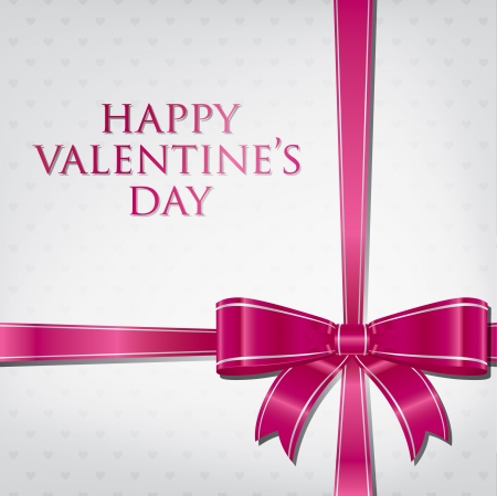 Bow Valentine s Day Card in vector format  Vector