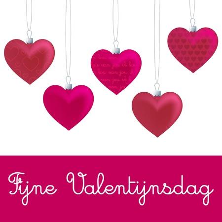 Heart ornament Valentine s Day card in vector format  Ilustração