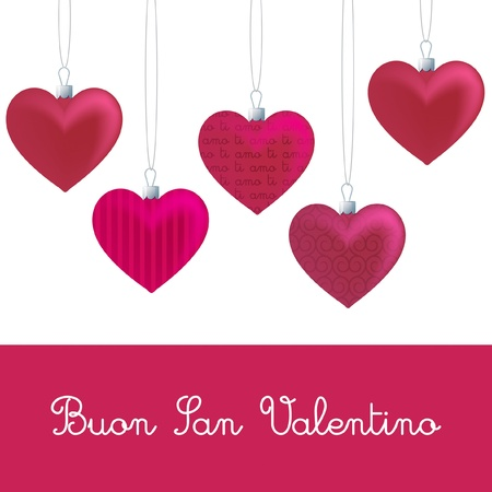 buon: Heart ornament Valentine s Day card in vector format  Illustration