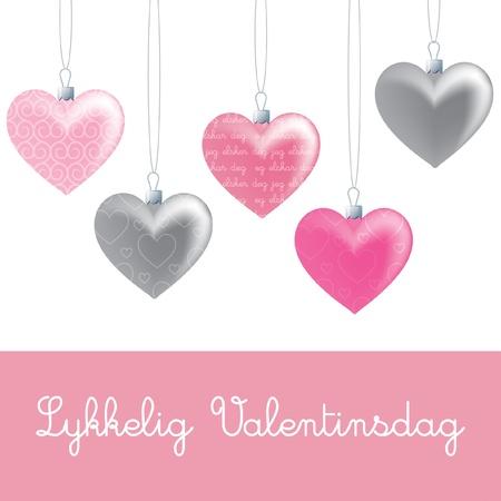 deg: Heart ornament Valentine s Day card in vector format  Illustration