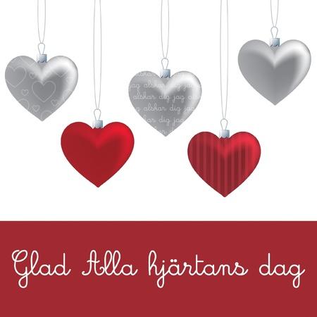 dag: Heart ornament Valentine s Day card in vector format  Illustration
