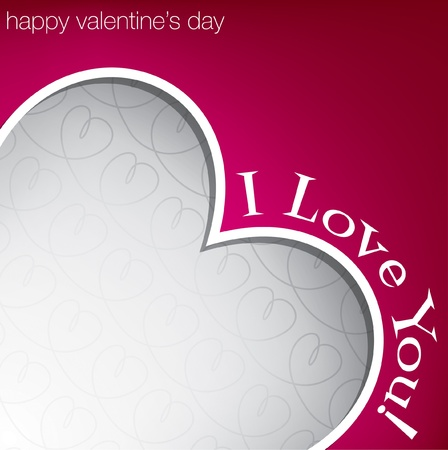 Hiding heart Valentine s Day card in vector format  Vector