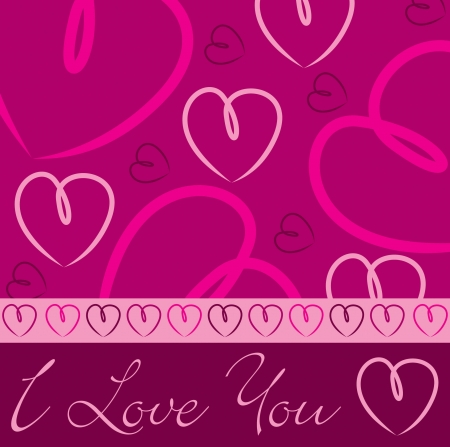 Pink hand drawn heart card in vector format Stock Vector - 19644640