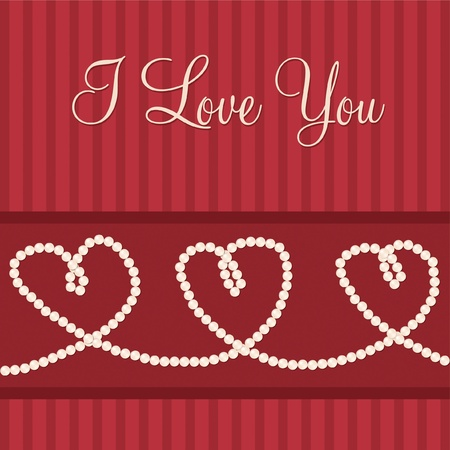 Love heart  I love You  card in vector format  Vector