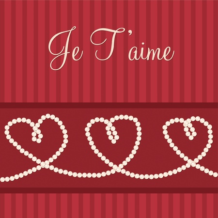 French love heart  I love You  card in vector format  Vector
