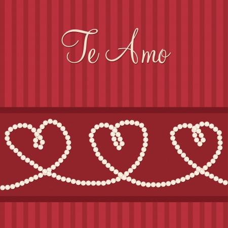 Spanish love heart  I love You  card in vector format  Vector