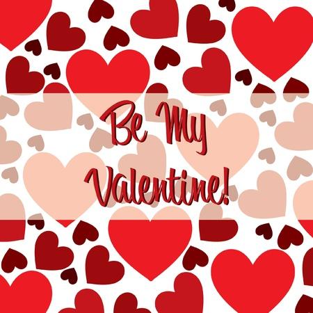 rozpraszać: Be My Valentine serca czerwona kartka rozrzut w formacie wektorowym