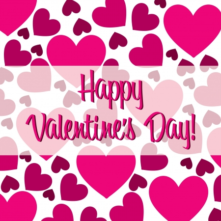 scatter: Happy Valentine s Day pink heart scatter card in vector format