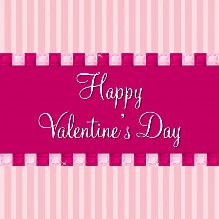 peridot: Pink sapphire bling Valentine s day cards in vector format