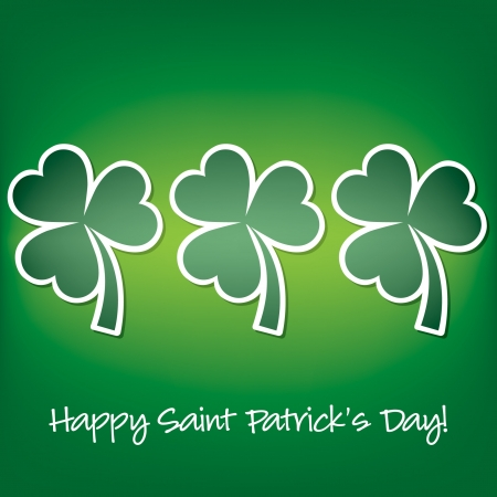Happy Paddy s Day shamrock card in vector format  Stock Vector - 19644720