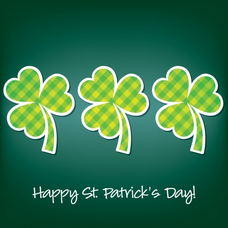 Happy Paddy s Day shamrock card in vector format Stock Vector - 19644714