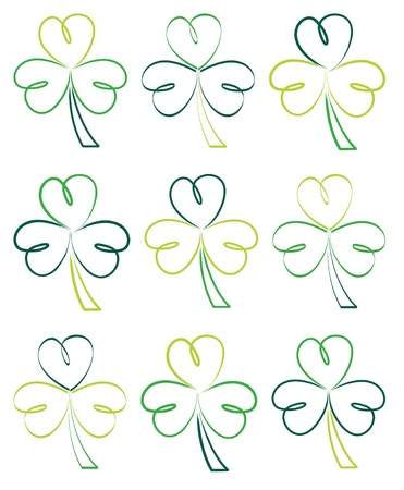eire: Hand drawn shamrocks in vector format