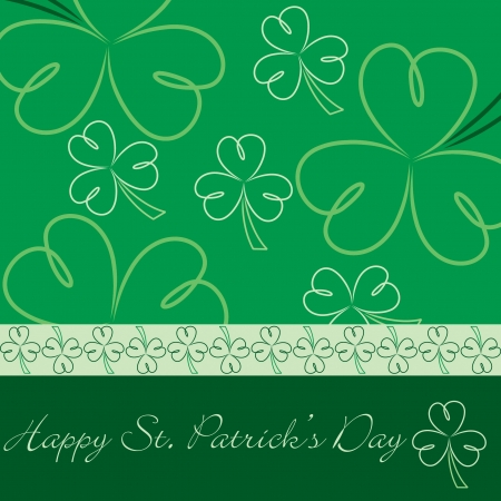 Happy St  Patrick s Day hand drawn shamrock card in vector format  Vector