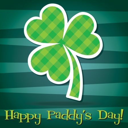 Happy Paddy s Day shamrock card in vector format  Vector