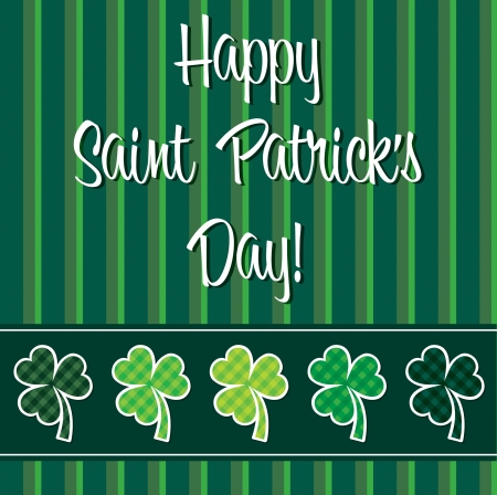 Happy Paddy s Day shamrock card in vector format Stock Vector - 19644658