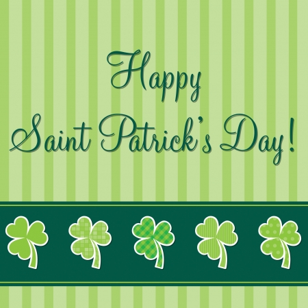 Happy Paddy s Day shamrock card in vector format Stock Vector - 19644648