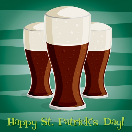 saint patrick's day:  Happy Saint Patrick s Day  beer card in vector format