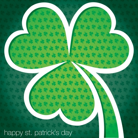 Happy St  Patrick s Day shamrock card in vector format Stock Vector - 19644723