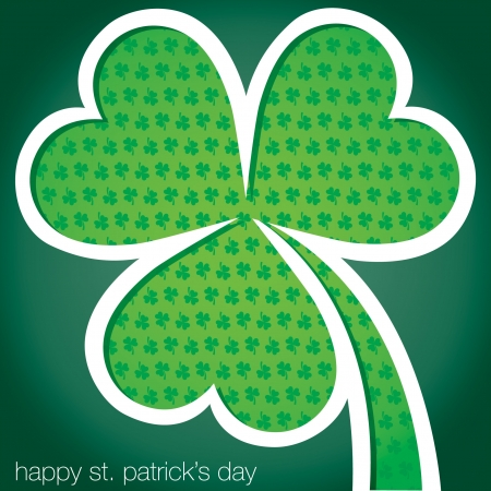 Happy St  Patrick s Day shamrock card in vector format  Stock Vector - 19644701