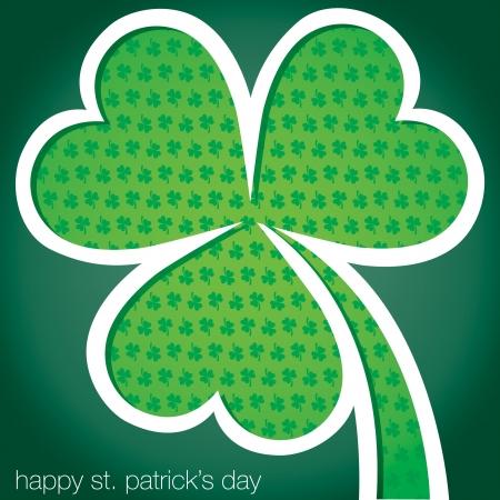 Happy St  Patrick s Day shamrock card in vector format Stock Vector - 19644701