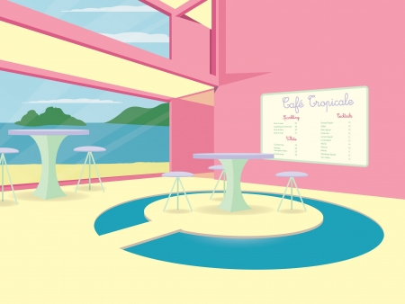collins: A tropical cocktail cafe in vector format