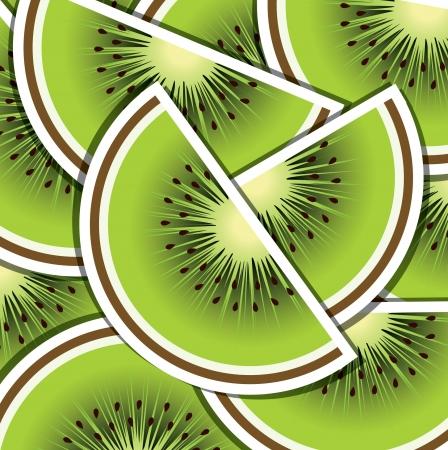 wedge: Kiwi wedge background card  Illustration