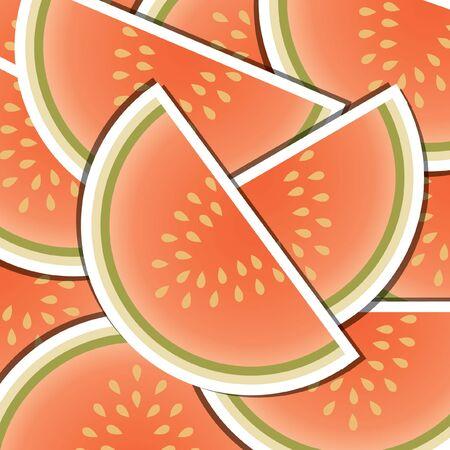 wedge: Melon wedge background card  Illustration