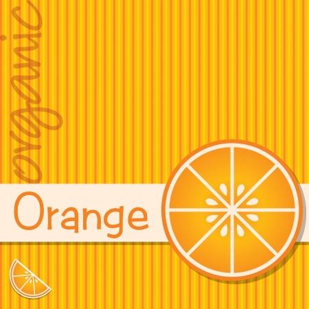 citrus: Bright organic orange card in format