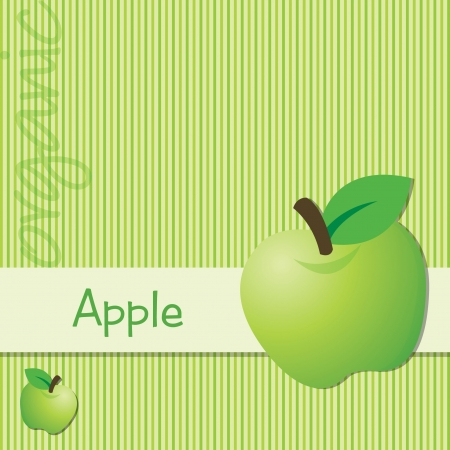 granny smith apple: Bright organic green apple card