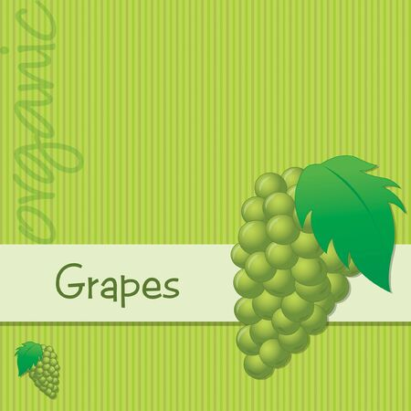 Bright organic green grape card