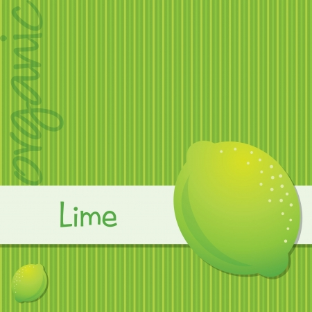 citrus tree: Bright organic lime card in format