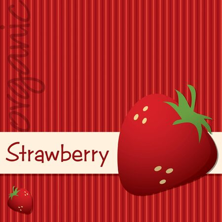 berry fruit: Bright organic strawberry card in format