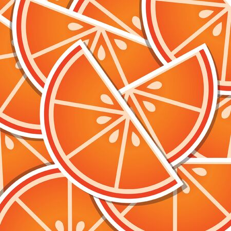 citrus tree: Blood orange wedge background card