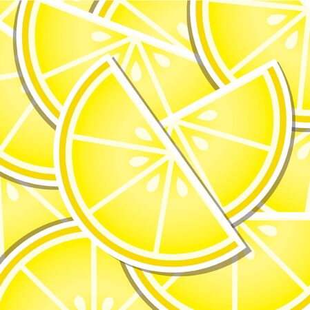 Lemon wedge background card in format  Vector