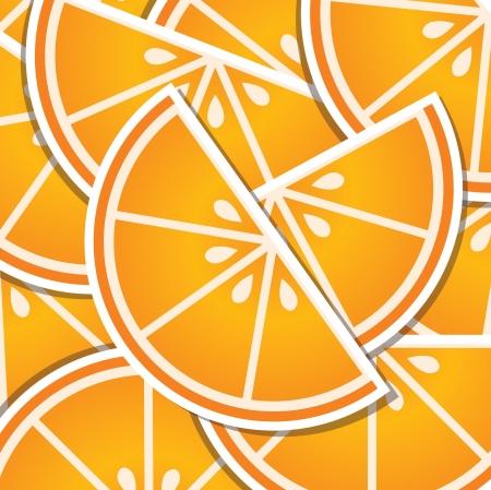 wedge: Orange wedge background card in format  Illustration