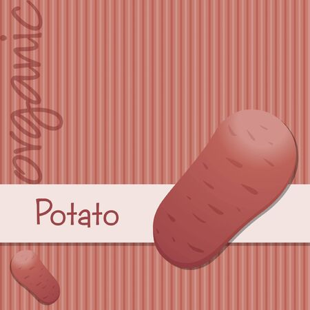 Bright organic desiree potato card