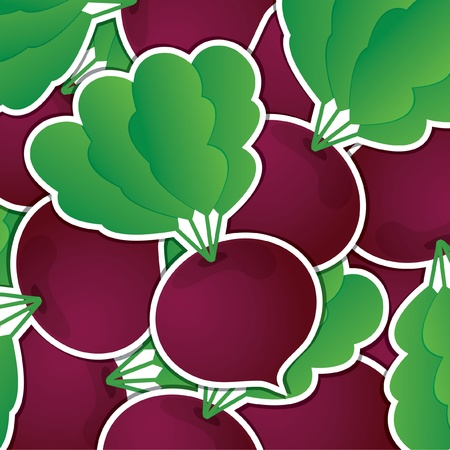 beet root: Beet sticker card  Illustration