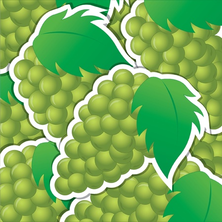 Green sticker background card