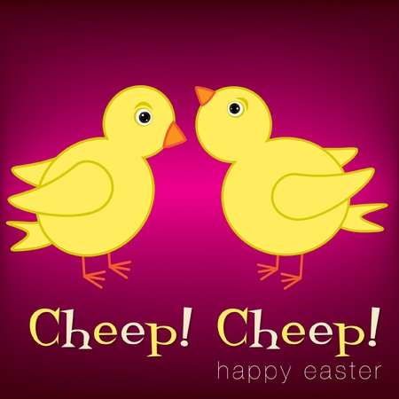 chirp: Cheep  Cheep  Happy Easter card